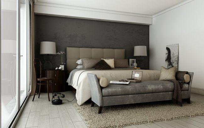 Черный, серый и коричневый цвета